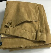 Ralph Lauren Polo Lamb Suede Pants Womens 12 Khaki Brown Cotton Lined New