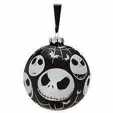 NIGHTMARE BEFORE CHRISTMAS JACK BLACK BALL GLASS ORNAMENT
