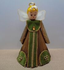 Vintage Hand Made CHRISTMAS ANGEL Made from FOLDED PAPER DECORATIONS