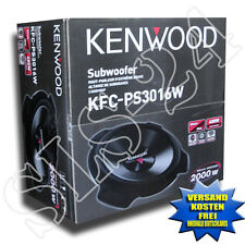 Kenwood KFC-PS3016W 300 mm KFZ Subwoofer 2000 Watt 400 Watt RMS Bass Car Woofer