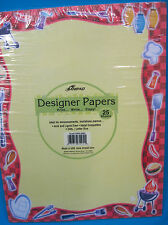 Designer Papers Create Print Your Own Invitations/Notice Barbecue Design 25 Page