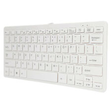 Ultra Thin Wired USB Mini PC Keyboard for PC Apple Mac Laptop Notebooks Whi