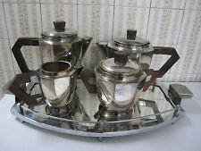 ART DECO,Jugendstil,tea coffee set,service thé café ,métal argenté palissandre