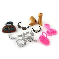 18pcs Accessoire Chaussure Sac Lunettes Bijoux Pour Poupée Barbie Cadeau