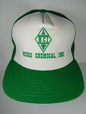 Old Vintage 1980s MCI MICRO CHEMICAL INC. Louisiana ADVERTISING SNAPBACK HAT CAP