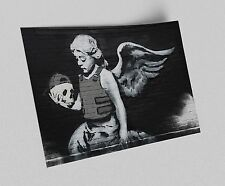 ACEO Banksy Armored Angel With Skull Graffiti Street Art Canvas Giclee Print
