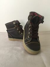 GAP Baby / Toddler Boys Size 8 Brown Distressed Hi-Top Sneakers Boots Shoes