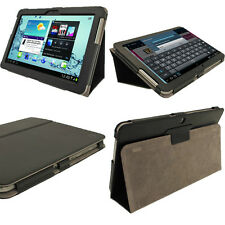Black Leather Case for Samsung Galaxy Tab 2 10.1 P5100 P5110 Wifi 3G Cover