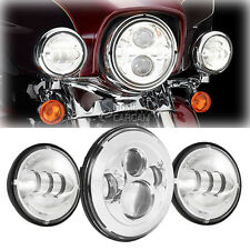 """7"""" Daymaker LED Head Light Passing Bulbs For Harley Tour Tri Glide Ultra Classic"""