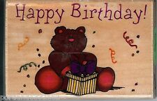 Westwater Rubber Stamp 12538,  Saying Happy Birthday Teddy Bear. S11