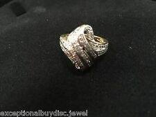 NATURAL DIAMOND ETERNITY ANGEL WINGS RING SZ 7 SZ 8 SZ 9 + GIFT!