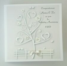 Personalised Wedding Anniversary Card 1st 25th 30th  Ivory Pearl Gay Same Sex