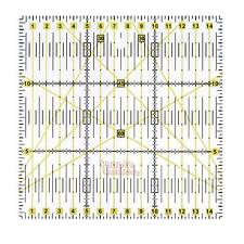 Quilting Patchwork Ruler Aligned Grid Cutting Tailor Sewing Craft Acrylic 15cm