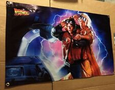 BACK TO THE FUTURE BANNER MOVIE FILM ACTION FIGURE CAR MICHAEL FOX POSTER MODEL