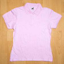 Fruit of the Loom Poloshirt Lady-Fit kurz XS rosa Shirt Damen Polo Shirt Hemd