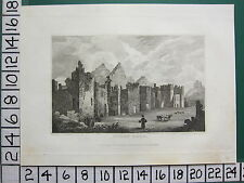 1830 ANTIQUE PRINT ~ TUTBURY CASTLE