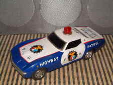 TAIYO VINTAGE, TIN RUSHER CORVETTE STINGRAY HIGHWAY PATROL CAR FULLY WORKING!!