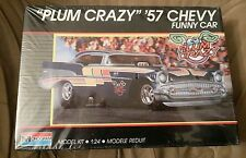 "ORGINAL 1989 MONOGRAM 1/24 '57 CHEVY "" PLUM CRAZY ""IN A NICE OPEN BOX KIT"