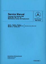 MERCEDES-BENZ autovetture 1966 a 1973 shop manuale catalogo BOOK LIBRO