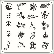 MoYou Nail Fashion Square Stamping Image Plate 417 Xmas Style