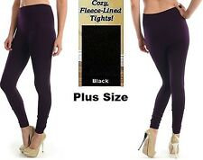 Womens Warm Fleece lined Thick Fur Winter PLUS SIZE Legging TX300X Fits 1X 2X 3X
