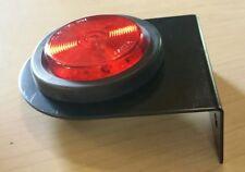 """2 1/2"""" Round Red Marker Light 13 LED - Grommet, Plug & Bracket ~ Truck ~ Trailer"""