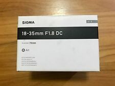 Sigma DC 18-35mm f/1.8 DC HSM Art Lens for Nikon