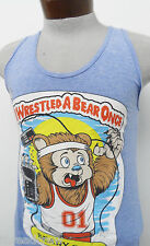NEW! FUNNY T-SHIRT A-SHIRT  I WRESTLED A BEAR ONCE BEARY GARY sz S mens #900