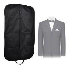 Black Dress Storage Garment Suit Coat Travel Cover Hanger Protector Carrier Bag