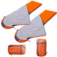 2 pcs Waterproof Outdoor Envelope Sleeping Bag Camping Hiking With Carrying