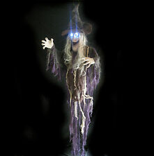 """Lifesize Animated Talking Witch Scary Lighted Hanging Halloween Party Prop 70"""""""