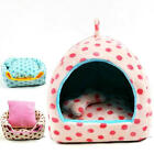 Pet Dog Cat House Kennel Puppy Soft Warm Kitten Kennel Winter Bed Cute Dot Cozy