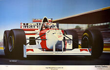Limited Edition Ivan Berryman Nigel Mansell McLaren MP4/10B Signed LE Print