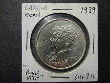 CANADA 1939 SILVER ROYAL VISIT MEDAL, MS 64++ !