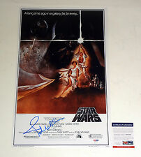 JOHN WILLIAMS STAR WARS SIGNED AUTOGRAPH MOVIE POSTER PROOF PSA/DNA COA