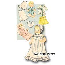 """Vtg Baby Doll Clothes Pattern ~ for 18"""" 19"""" Tiny Tears, Betsy Wetsy, Thumbelina"""