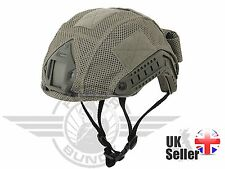 AIRSOFT FAST PJ /BJ TYPE BASE JUMP HELMET COVER ACU / FOLIAGE GREEN