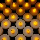 24/48X LED TEA LIGHT TEALIGHT CANDLE CANDLES FLAMELESS WEDDING BATTERY INCLUDED