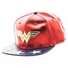DC Comics Wonder Woman PU Suit Up Logo Adjustable Snapback Cap/Hat