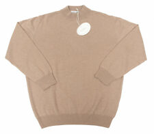 Men's PAL ZILERI Italy Beige 100% Cashmere Sweater Shirt 58 XL / 2XL NWT $325