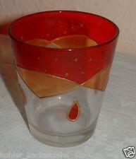 Hübsches Teelichtglas Dekoglas aus Glas