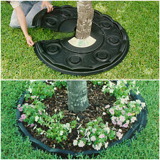 """2 Henta 38"""" Scalloped Tree Landscape Mat Ring Weed Barrier Lawn Garden Protector"""