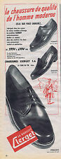 PUBLICITE ADVERTISING 084 1953 CLERGET chaussures pour homme
