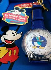 BNIB GOLDEN YEARS OF DISNEY BY INGERSOLL DONALD DUCK UNISEX WATCH WHITE DIAL