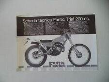 advertising Pubblicità 1980 MOTO FANTIC TRIAL 200