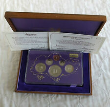 SINGAPORE 1978 LUNAR YEAR OF THE HORSE 6 COIN PROOF YEAR SET - boxed/coa