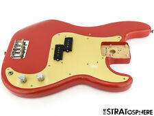 LOADED 50s Road Worn Fender Precision P BASS BODY 57 Relic Fiesta Red SALE
