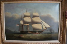 A stunning antique nautical Oil painting by Nicholas Condy with great Provenance