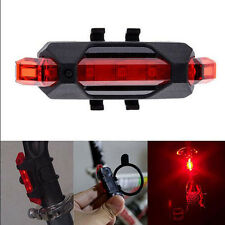 Bike Rechargeable 5 LED USB Lamp Bicycle Cycling Tail Rear Safety Warning Light