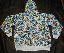 BAPE Baby Milo Hoodie Abstract Cartoon Size 3XL Baby blue Very Good